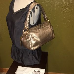 Coach Rose/Gold Leather Shoulder Bag